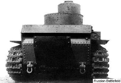 T-24 medium tank (rear view). 1940