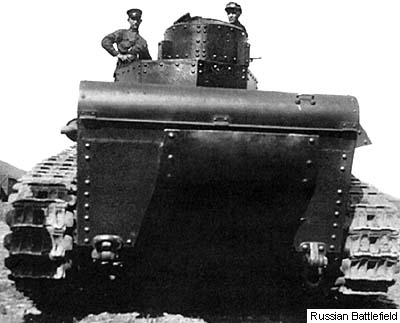 The T-12 tank during trials at Kharkov. June 1930